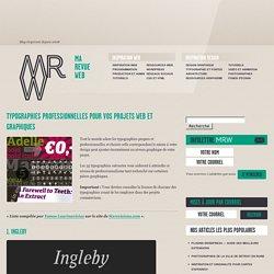 35 nouvelles typographies professionnelles pour vos projets web