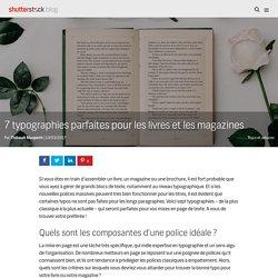 7 typographies parfaites pour les livres et les magazines - Le blog de Shutterstock