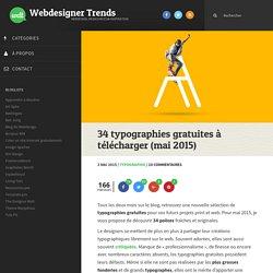 34 typographies gratuites à télécharger (mai 2015)