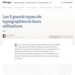 Les 5 grands types de typographies et leurs utilisations