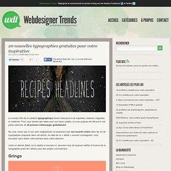 20 nouvelles typographies gratuites pour votre inspiration
