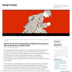 Histoire de l'Écriture Typographique