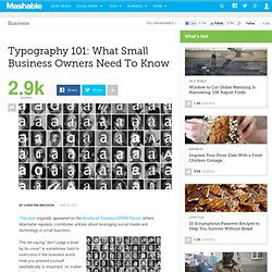 Typography 101: What Small Business Owners Need To Know