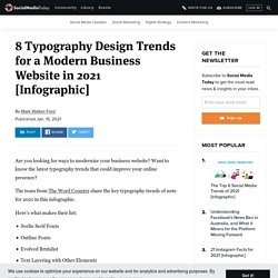 8 Typography Design Trends for a Modern Business Website in 2021
