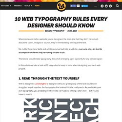 10 Web Typography Rules Every Designer Should Know