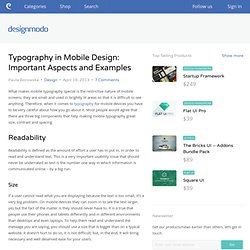 Typography in Mobile Design: Important Aspects and Examples