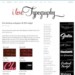 Typography desktop wallpapers. fonts on your desktop! | i love t