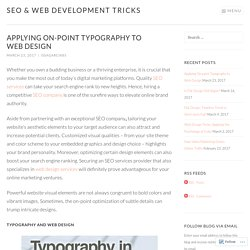 Applying On-Point Typography to Web Design