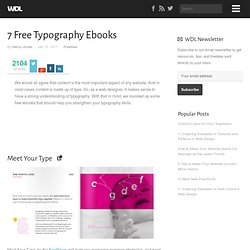 7 Free Typography Ebooks | Freebies
