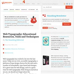 Web Typography: Educational Resources, Tools and Techniques - Smashing Magazine