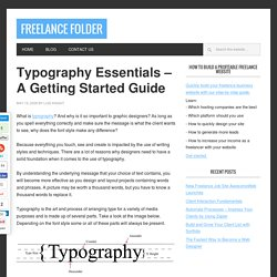 Typography Essentials - A Getting Started Guide