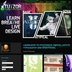 Learn how to photoshop, design, layout, typography and everything.
