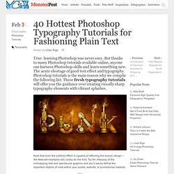40 Hottest Photoshop Typography Tutorials for Fashioning Plain Text
