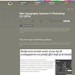 New typography features in Photoshop CC (2014)