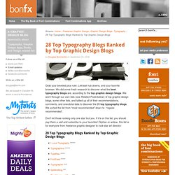28 Top Typography Blogs Ranked by Top Graphic Design Blogs