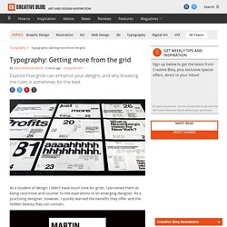 Typography: Getting more from the grid