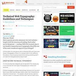 Technical Web Typography: Guidelines and Techniques - Smashing Magazine