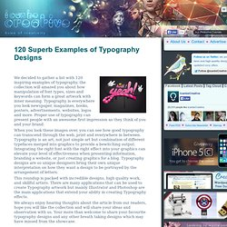 120 Superb Examples of Typography Designs