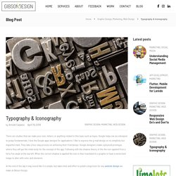Typography & Iconography, Text Harmony Study