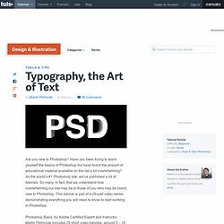 The Type Tool in Photoshop