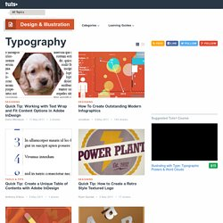 Typography - Tuts+ Design & Illustration Category