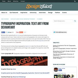 Typography Inspiration: Text Art from DeviantART