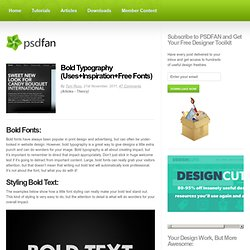 Bold Typography (Uses+Inspiration+Free Fonts)