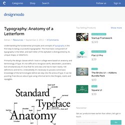 Typography: Anatomy of a Letterform