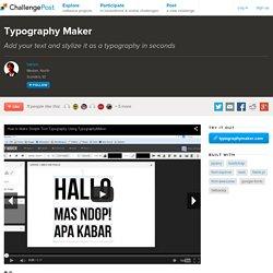 Typography Maker