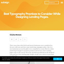 Best Typography Practices to Consider for Landing Pages