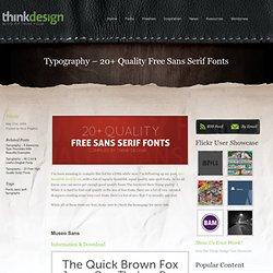 Typography - 20+ Quality Free Sans Serif Fonts
