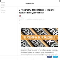 Typography best practices you should employ to bolster your web design