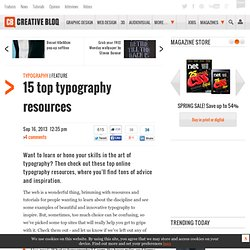 10 top typography resources