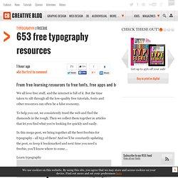 653 free typography resources
