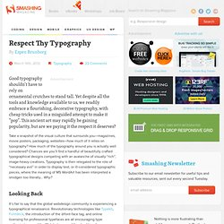 Respect Thy Typography
