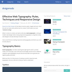 Effective Web Typography: Rules, Techniques and Responsive Design