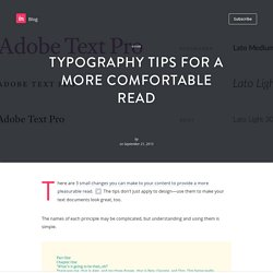Typography tips for a more comfortable read