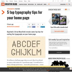 5 top typography tips for your home page