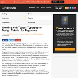 Working with Types: Typography Tutorial for Beginners
