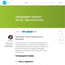 Typography Tutorial: Terms, Tips and Tricks