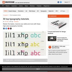 90 top-quality typography tutorials