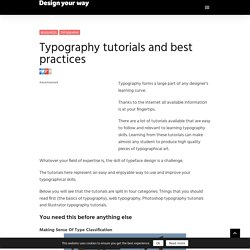 Typography tutorials and best practices