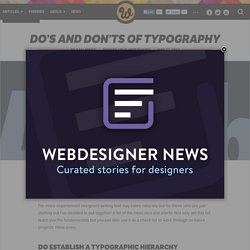 Do's and don'ts of typography