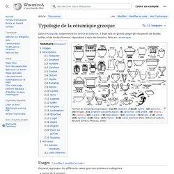 Typologie de la céramique grecque