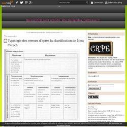 Typologie des erreurs d'après la classification de Nina Catach - Le blog de lemaster2meefetlecrpedekro.over-blog.com