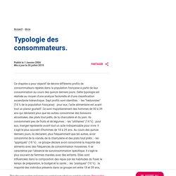 Typologie des consommateurs.