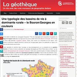 Une typologie des bassins de vie à dominante rurale – le Bouron/Georges en couleurs