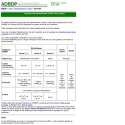ADBDP : Typologie des établissements ouverts à tous publics