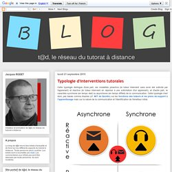 Typologie d'interventions tutorales
