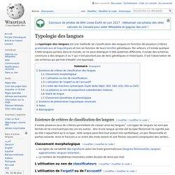 Typologie des langues